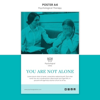 Plakat terapii psychologicznej