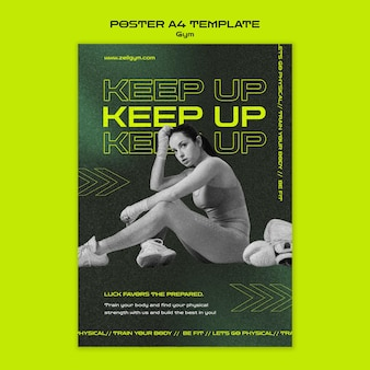 Plakat treningowy a4 na siłowni