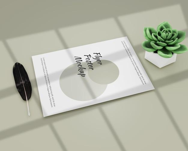 Plakat ulotki makiety prosty