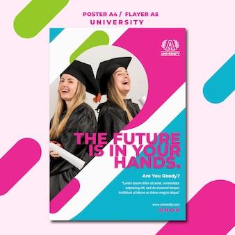 Plakat uniwersytecki koncepcja edukacji