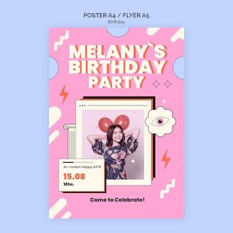 Plakat urodzinowy lub szablon ulotki