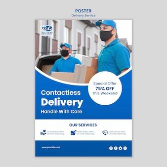 Plakat usługi dostawy