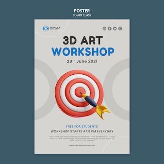 Plakat warsztatów artystycznych 3d
