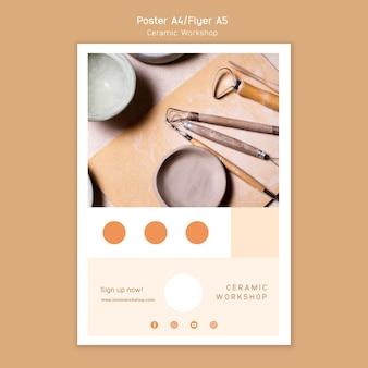 Plakat warsztatów ceramicznych