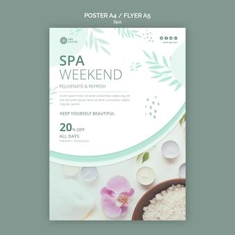Plakat weekendu solnego spa