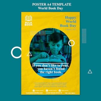 Plakat wydarzenia światowego dnia książki
