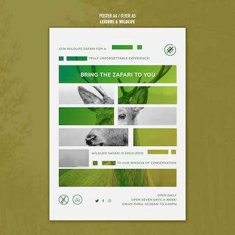 Plakat wypoczynek i dzikiej przyrody