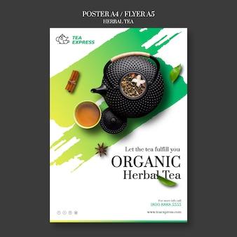 Plakat z herbatą ziołową
