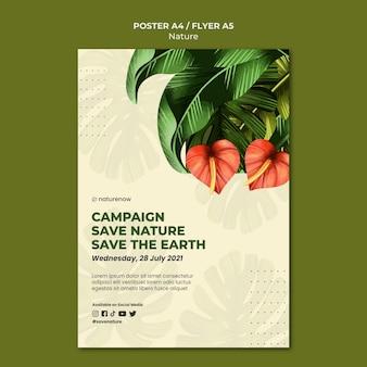 Plakat z kampaniami na rzecz ochrony przyrody