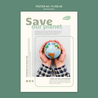 Plakat z motywem środowiska
