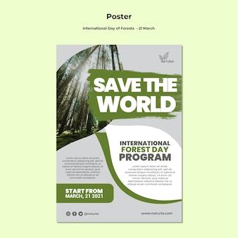 Plakat z okazji międzynarodowego dnia lasu