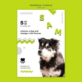 Plakat z projektem adopcji zwierzaka
