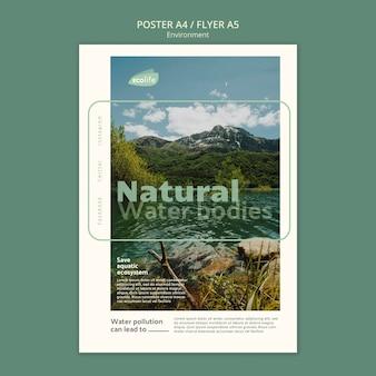 Plakat z szablonem środowiska