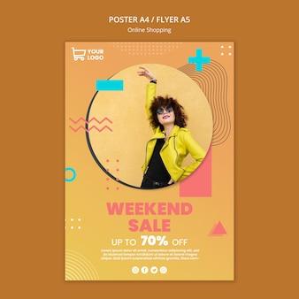 Plakat z zakupami online