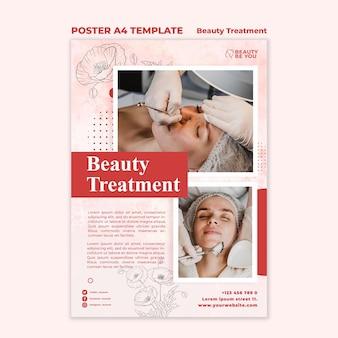 Plakat zabiegów kosmetycznych