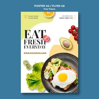 Plakat zdrowej żywności