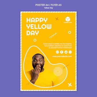 Plakat żółty dzień