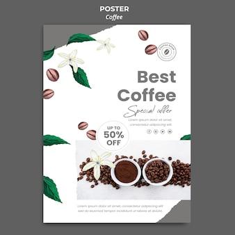 Plakatowy szablon do kawy