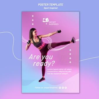 Plakatowy szablon do treningu fitness