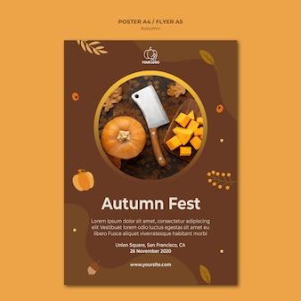 Plakatowy szablon jesień fest