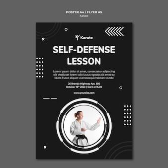 Plakatowy szablon klasy karate
