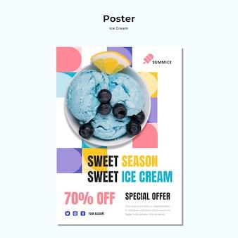Plakatowy szablon lodów