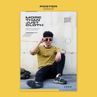 Plakatowy szablon moda miejska
