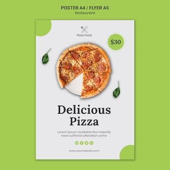 Plakatowy szablon restauracji pizzy
