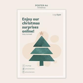 Plakatowy szablon świątecznych zakupów online