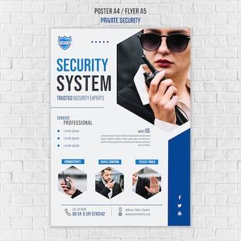 Plakatowy szablon usług bezpieczeństwa