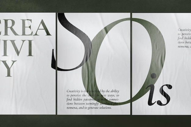 Plakaty makieta psd na betonowej ścianie