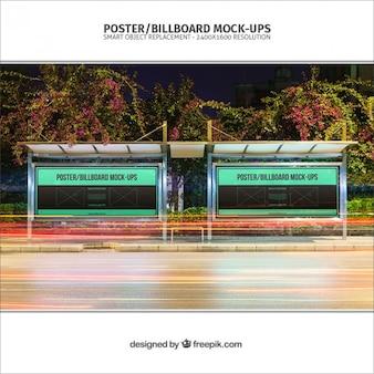 Plakaty przystanek autobusowy makieta