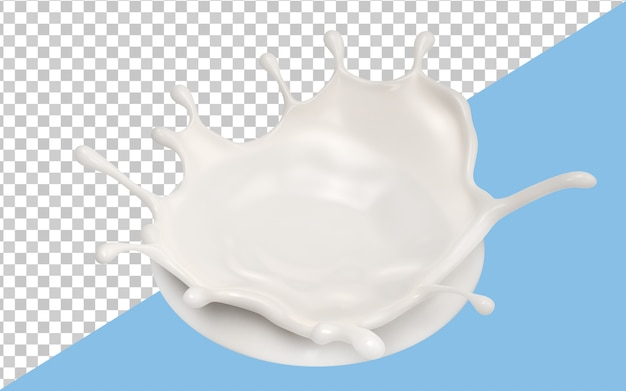 Plamy mleka na białym tle