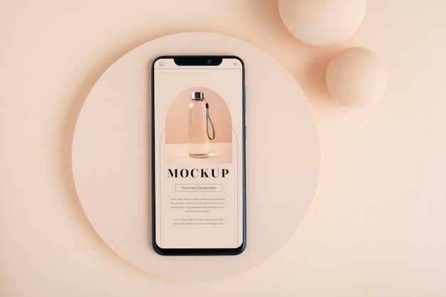 Płaska makieta smartfona i płyty