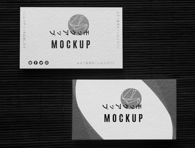 Płaski układ wizytówki firmy