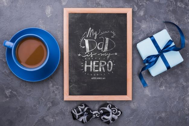 Płaskie ukształtowanie makiety koncepcji dnia ojca