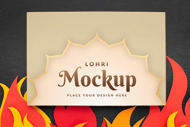 Płaskie ukształtowanie makiety koncepcji lohri