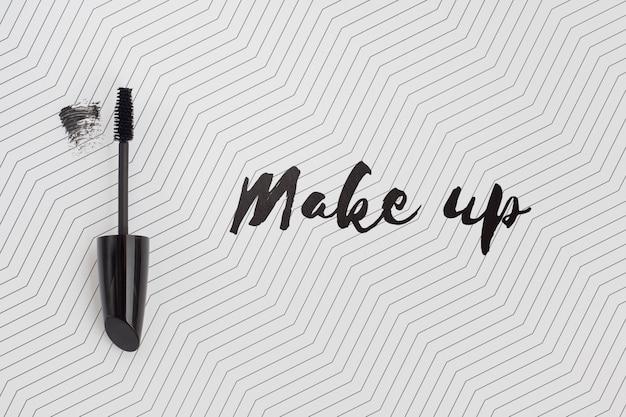 Płaskie ukształtowanie makiety koncepcji makijażu