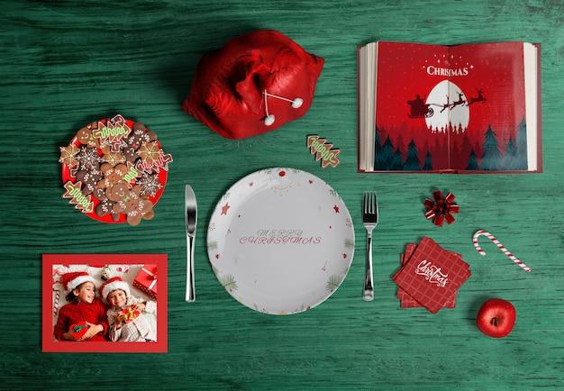 Płaskie ukształtowanie makiety twórcy sceny bożonarodzeniowej