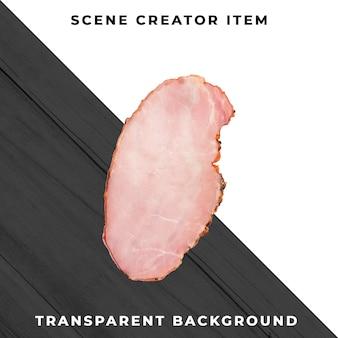 Plasterek mięsa przezroczysty psd