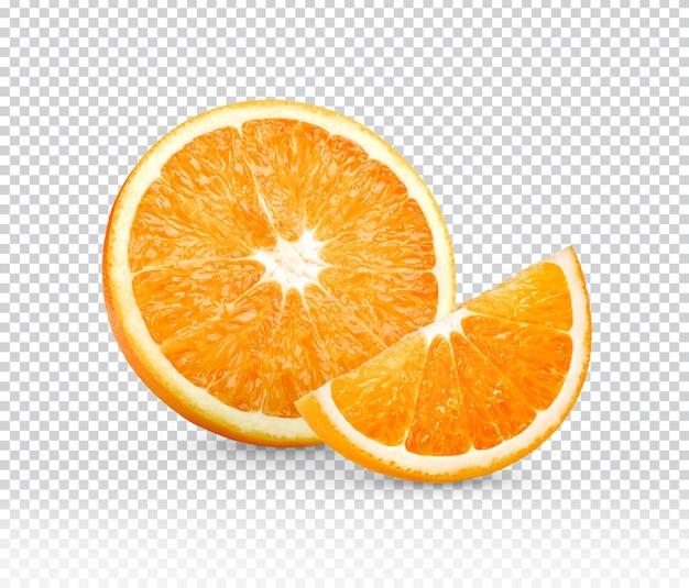 Plasterki pomarańczy na białym tle
