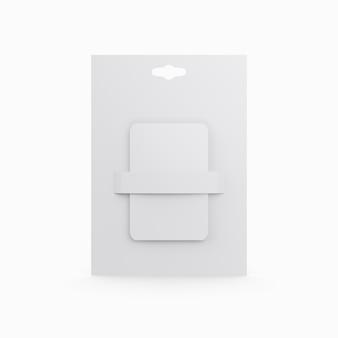 Plastikowa karta prezent na białym tle