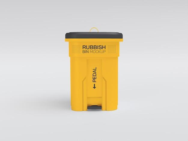 Plastikowa makieta kosza na śmieci