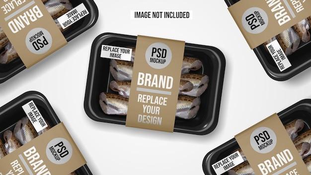 Plastikowa taca próżniowa projekt makiety żywności