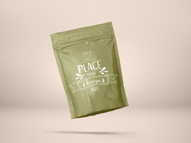Plastikowa torba, opakowanie woreczka foliowego. pakiet do brandingu i tożsamości.
