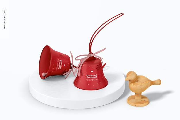 Plastikowe dzwonki ornament makieta, perspektywa