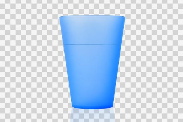 Plastikowy kubek z wodą