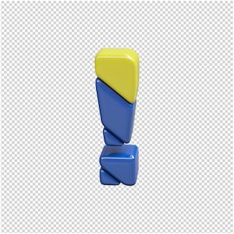 Plastikowy symbol renderowania 3d