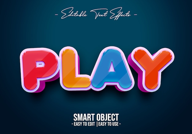 Play-text-style-effect