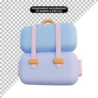 Plecak renderowania 3d